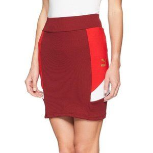 Puma Retro Tight Skirt Pomegranate Medium